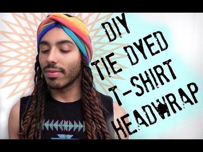 Coachella-Inspired Tie Dye T-shirt Headwrap