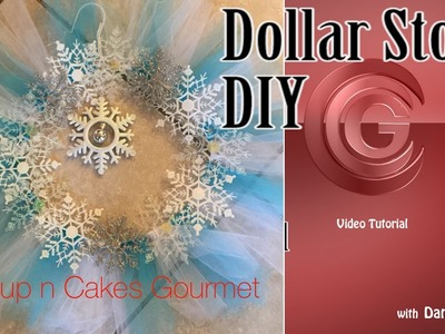 Craft DIY -Snowflake or Frozen Dollar Store Wreath Tutorial