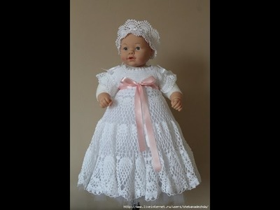 Crochet baby dress| How to crochet an easy shell stitch baby. girl's dress for beginners 124