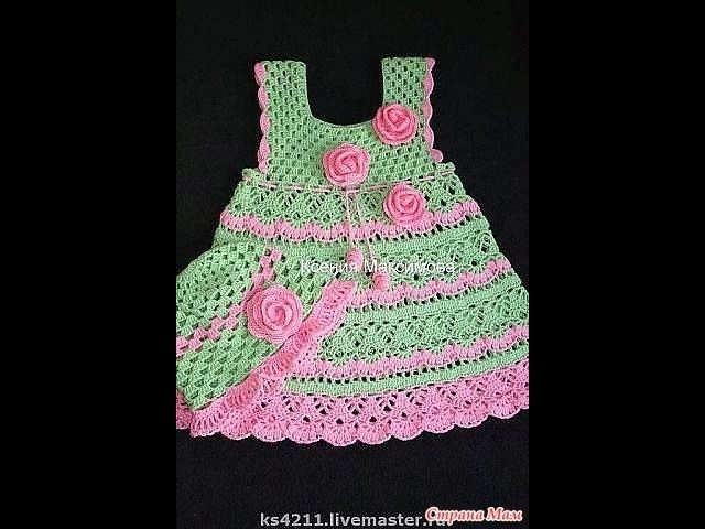Crochet dress| How to crochet an easy shell stitch baby. girl's dress for beginners 17