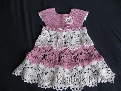 Crochet dress| How to crochet an easy shell stitch baby. girl's dress for beginners 34