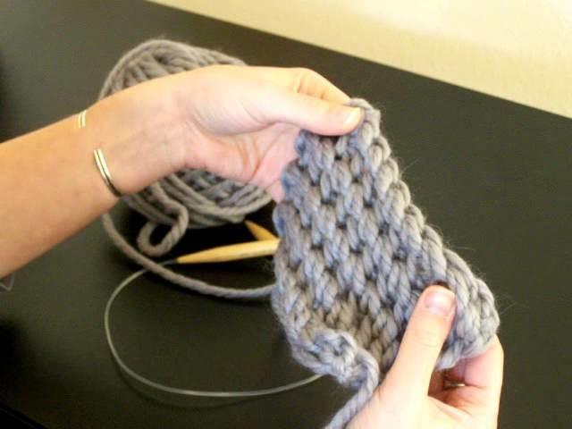 CUMULUS CAP #2 - Binding off in my Brioche Variation Stitch & Picking Up Cap Stitches