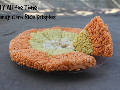 D.I.Y All the Time! Candy Corn Rice Krispy Treats