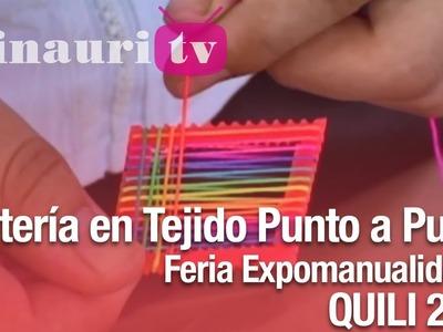 DIY - Aretes Tejidos ( How-to do tissue thread earrings )