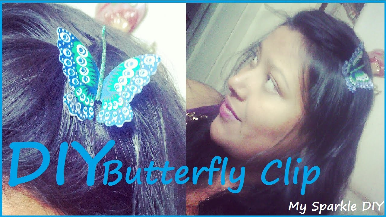 ♥ DIY BUTTERFLY HAIR CLIP ( Easy and Cheap)