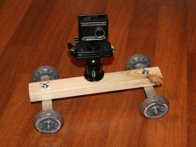 DIY Camera Dolly for Actionpro X7, GoPro or any other action or video camera.
