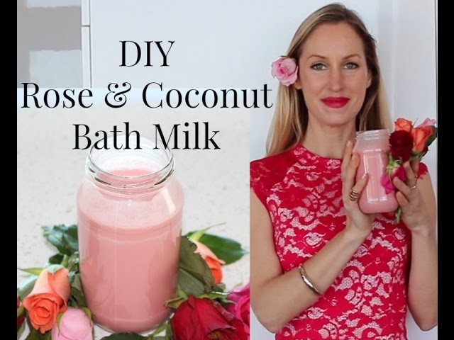 DIY Coconut & Rose Bath Milk for relaxation and beautiful skin!