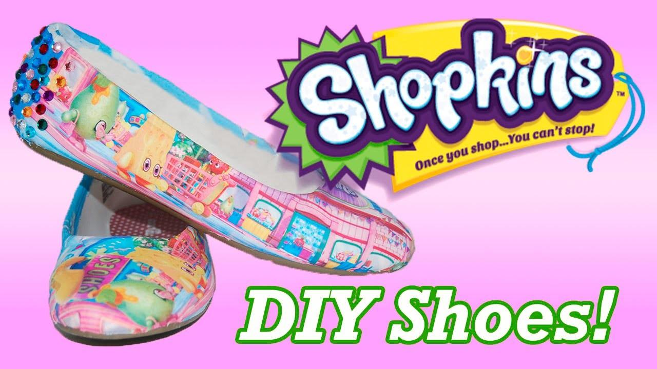 DIY CUSTOM SHOPKINS SHOES ! Perfect Birthday Gift idea for any Shopkin Lover!