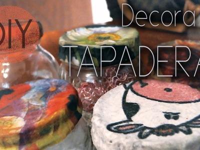 DIY: decora tus tapaderas con servilletas ♥