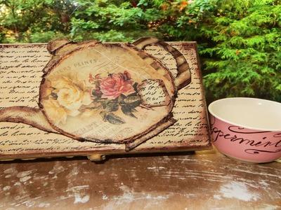 DIY Decoupage a Tea Box