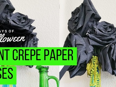 DIY GIANT Crepe Paper Roses for Halloween #JPHalloween 30 Days of Halloween