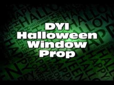 DIY Halloween Window Prop
