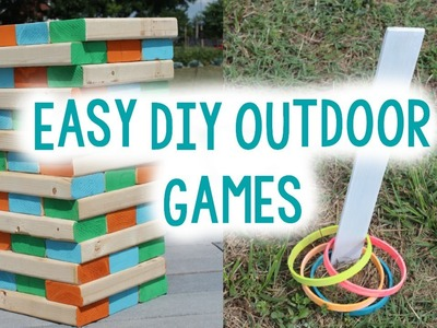 DIY OUTDOOR GAMES FOR SUMMER | EASY CRAFT IDEA