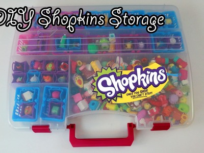 DIY Shopkins Storage container (also great for lalaloopsy tinies)