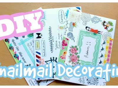 DIY Snailmail envelope decorating!