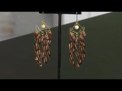 DIY Twisted Flat Wire Chandelier Earrings - Susan Thomas