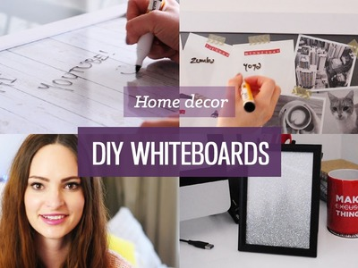 DIY whiteboard for organisation | CharliMarieTV