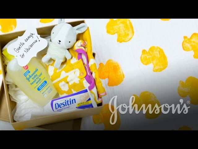 DIY Your Custom Baby Shower Blanket & Gifts Box with The Girls With Glasses   JOHNSON'S®