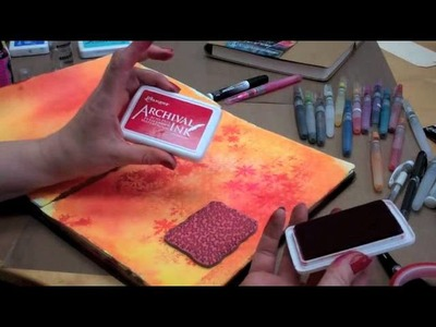 Dylusions Art Journaling Creating a Page - Part 1