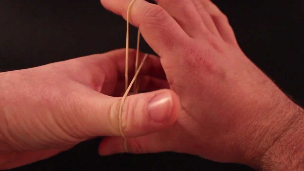 How to: Best rubber band magic trick EVER!