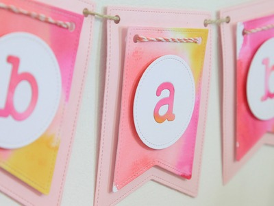 How to create a watercolor party banner