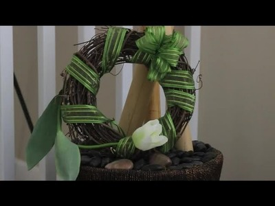 How to Decorate a Wreath With Vintage Gift Ribbon : Ribbons & Wreaths Decorations