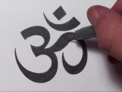 How To Draw an Om Symbol