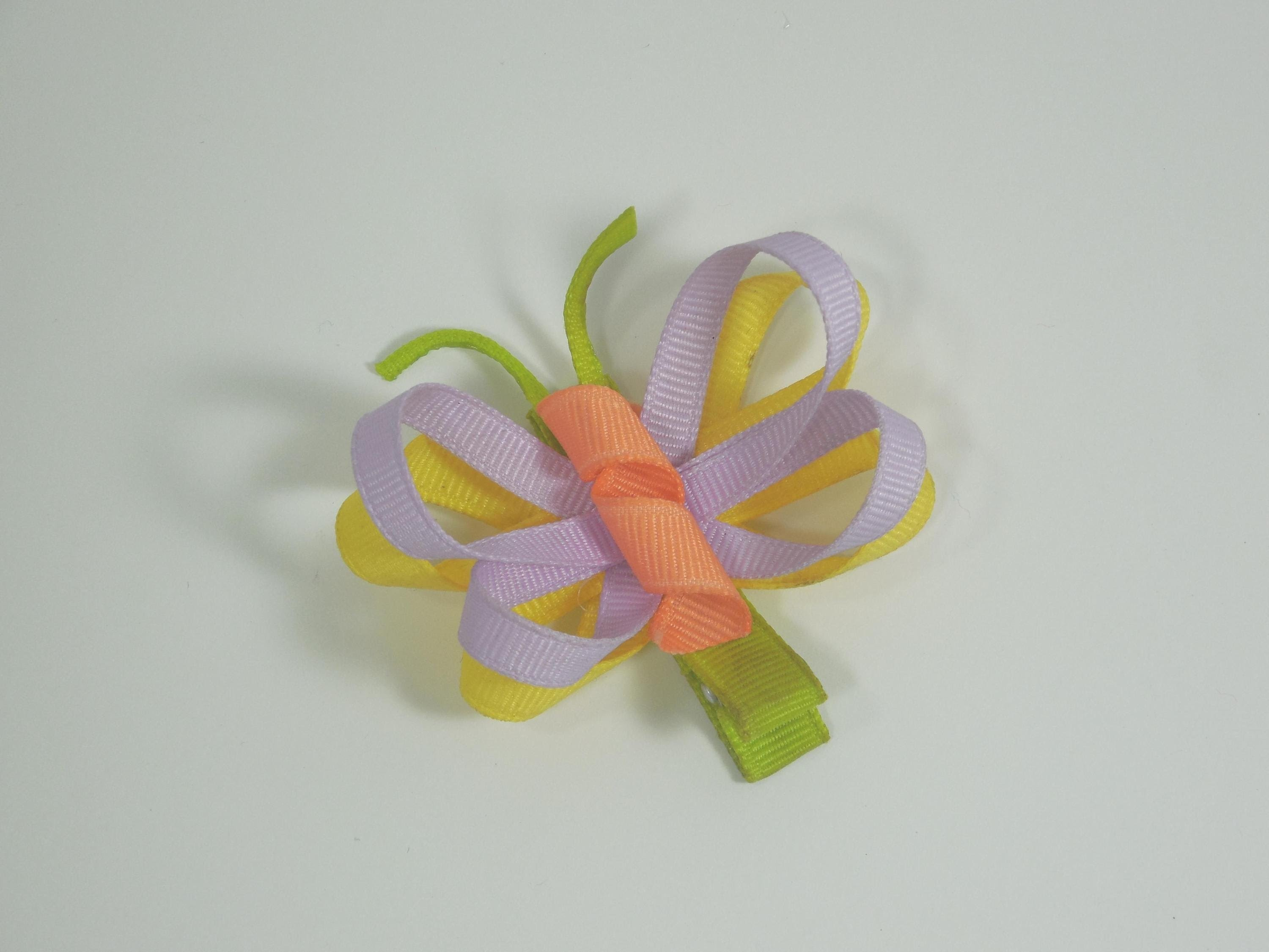 How To Make A Butterfly Hair Bow.Clip Tutorial