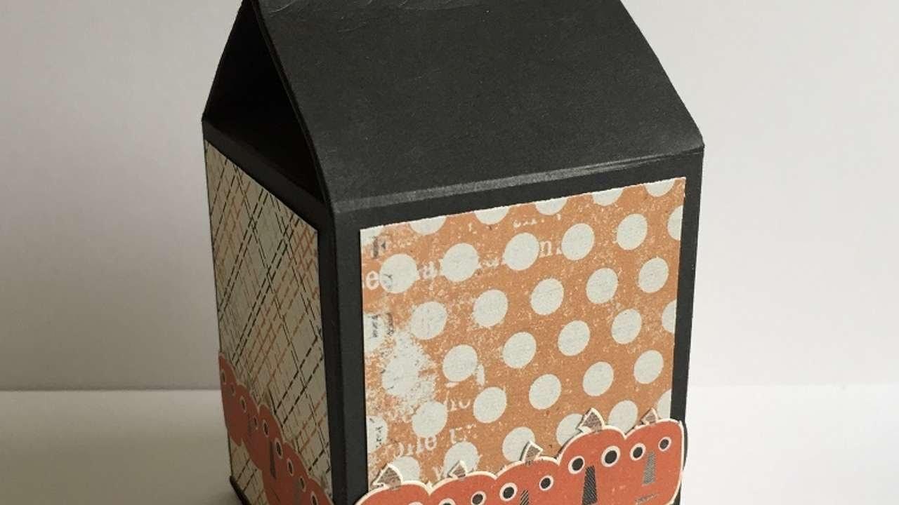 How To Make A Halloween Milk Carton Treat Box - DIY Crafts Tutorial - Guidecentral
