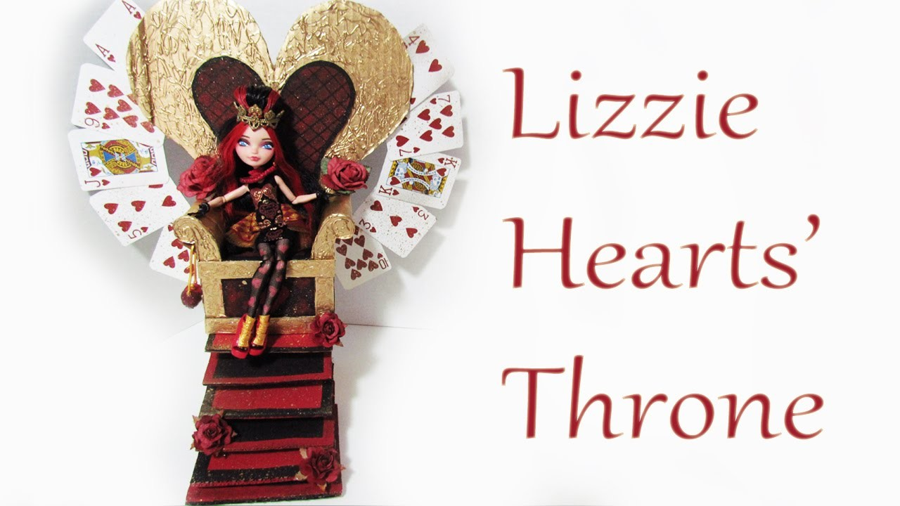 How to make a Lizzie Hearts' Throne [EVER AFTER HIGH]
