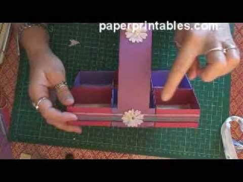How to make a paper cupcake.muffin presentation basket tutorial