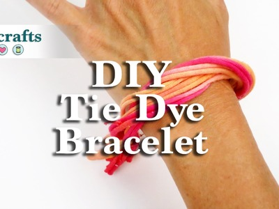 How to Make a Recycled Tie Dye Bracelet