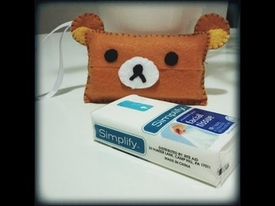 How to Make a Rilakkuma Tissue Pouch from felt Tutorial