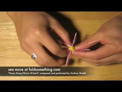 How to make a six piece lotus flower