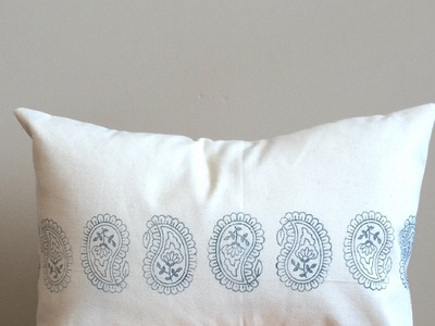 How to Make a Stamped Envelope Pillow Cover