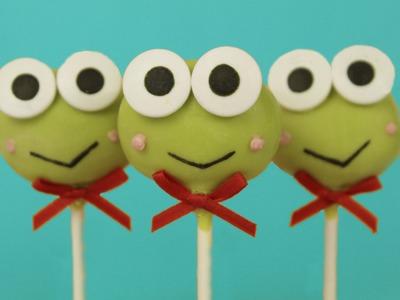 How to Make Keroppi Cake Pops!