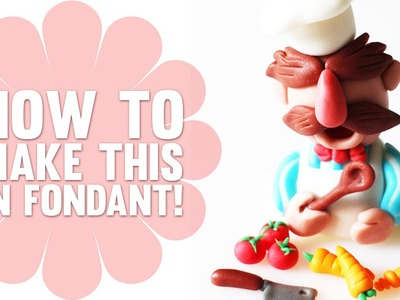 How to make the Swedish Chef from the Muppets in Fondant - Cake Decorating Tutorial