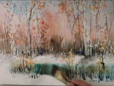 How to paint landscape - birch tree