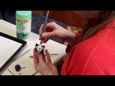 How to sculpt a cat pendant from polymer clay part 3 video tutorial