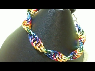 How to Weave Rainbow Spiral Chain