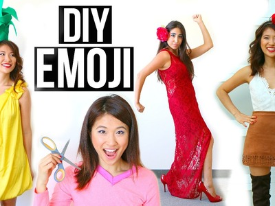 Last-Minute DIY Halloween Costumes Ideas for Girls - Emoji