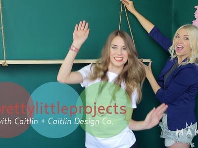 Make a Hanging Wall Shelf DIY \ #PrettyLittleProjects