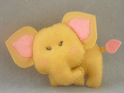 Make a Lovely Elephant Calf of Felt - DIY Crafts - Guidecentral