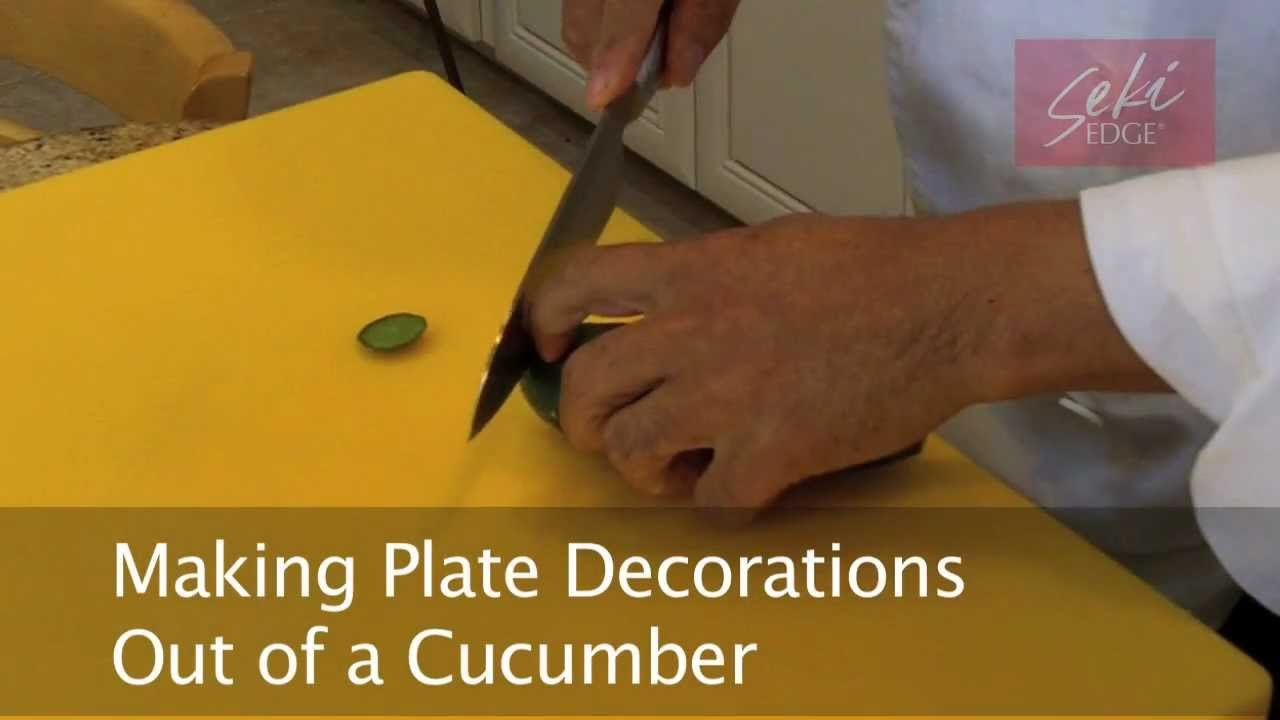 Making Cucumber Decorations w.the Seki Edge Paring Knife