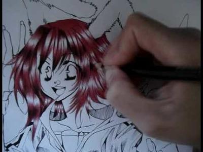 Manga Colouring Tutorial Part 1