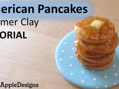 Miniature American Pancakes - Polymer Clay TUTORIAL