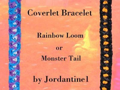 New Coverlet Bracelet - Rainbow Loom or Monster Tail