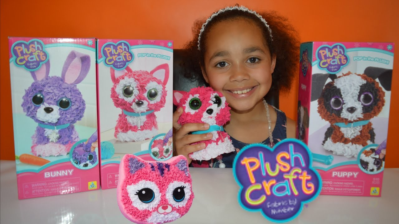 NEW DIY 3D PlushCraft - Kitty, Bunny,Puppy - Kids Review | Toys AndMe