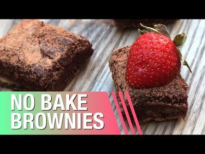 No Bake Brownies. Raw Vegan + 3 Ingredients!
