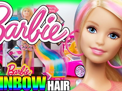 Opening TOYS BARBIE RAINBOW HAIR NEW 2015 DOLL Collection UNBOXING playtime